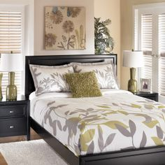 Luna Lime bedding by Ashley is one of my favorites.  Come see it for yourself at Furniture Mall of Kansas.
