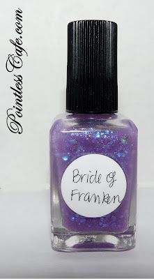 one quick coat of the black and two coats of Lynnderella Bride of Franken