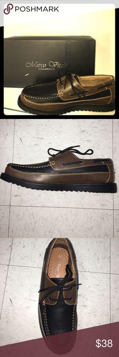 Men's two toned boat shoe Men's two toned boat shoe Marco Vitale Shoes Boat Shoes