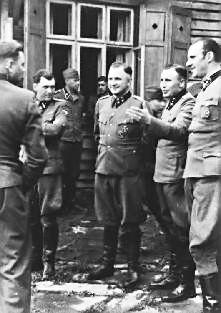 photo album SS Hoecker avec Baer et Mengele