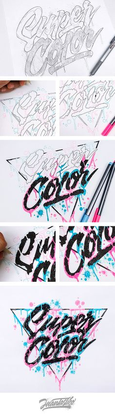 Typography Illustrations Vol.4 on Behance