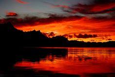 Kosrae sunset, Micronesia