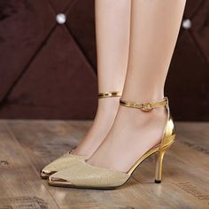 33.88$  Watch now - http://dighl.justgood.pw/go.php?t=207456603 - Two Piece Metallic Color Pumps 33.88$