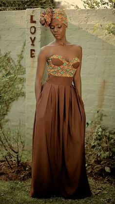 Its African inspired. African Attire, African Wear, African Women, African Dress, African Style, Ankara Dress, African Inspired Clothing, African Print Fashion, Africa Fashion