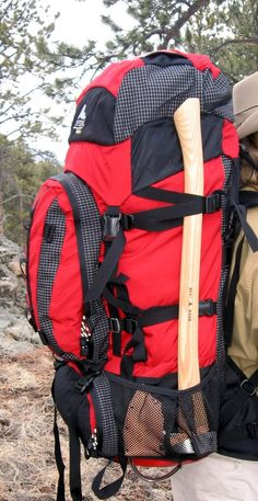 Rocky Mountain Bushcraft: Tips & Tricks: An easy way to carry your axe while backpacking