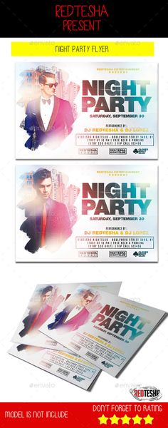 Night Party Flyer Template #design Download: http://graphicriver.net/item/night-party-flyer/12699944?ref=ksioks
