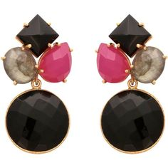 Carousel Jewels - Black Onyx Art Deco Round Drop Earrings ($170) ❤ liked on Polyvore featuring jewelry, earrings, deco jewelry, art deco jewellery, black onyx drop earrings, fuschia jewelry and drop earrings