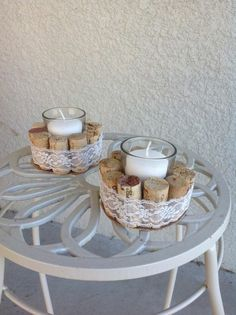 1001 ideas on crafting with wine corks 1001 ideas on crafting with wine corks DIY candle holders white candles round table table decoration 1001 ideas on crafting with wine corks DIY candle holders white candles round table table decoration Wine Cork Projects, Wine Cork Crafts, Wine Bottle Crafts, White Candles, Diy Candles, Bottle Candles, Diy Crafts To Do, Easy Crafts, Cork Art