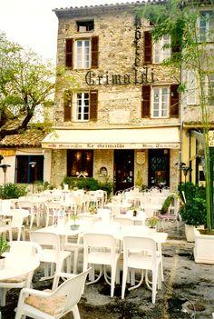 Cafe Grimaldi where I had lunch - Haut-de-Cagne - France