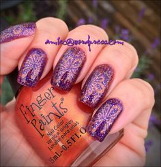 Sinful Colors Lively Lilac; Finger Paints Copper elements, Pueen Encore SE04B