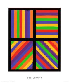 Color Bands in Four Directions, c.1999 by Sol Lewitt -Repinned by Totetude.com