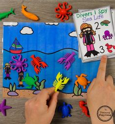 Under the Sea - Ocean Counting Activities for Preschool #preschool #oceantheme #preschoolactivities #preschoolcenters #planningplaytime #counting
