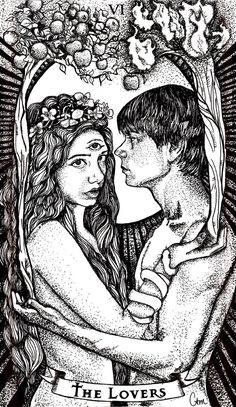 .The Lovers Tarot Card by Chelsea Monico on Behance. Let's ignore the obvious here and just focus on their facial expressions. You know she just asked him if it was in yet.