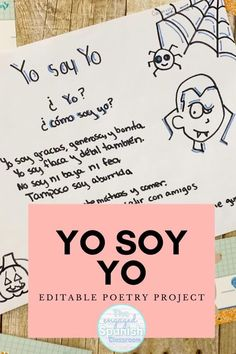Looking for an engaging back to school activity for your secondary Spanish class that will be the right amount of rigorous and fun combined? Check out this Yo Soy Yo activity! It's perfect for those first days at the beginning of the year when you're getting to know your students in middle school Spanish or Spanish 1 in high school, when they might not know a lot of Spanish vocabulary yet. Get your students writing in Spanish from Day 1 and watch their fluency grow from there! Click through… Study Spanish, Spanish 1, Spanish Lessons, Poetry Projects, Spanish Projects, Spanish Activities, Back To School Activities, Spanish Vocabulary, Teaching Spanish