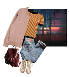 """""""Untitled #168"""" by junk-food ❤ liked on Polyvore featuring Levi's, Prada, Converse, women's clothing, women's fashion, women, female, woman, misses and juniors"""