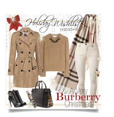 """""""I Wish I May"""" by happilyjynxed ❤ liked on Polyvore featuring Burberry, contestentry, holidaystyle, Christmas2015 and 2015wishlist"""