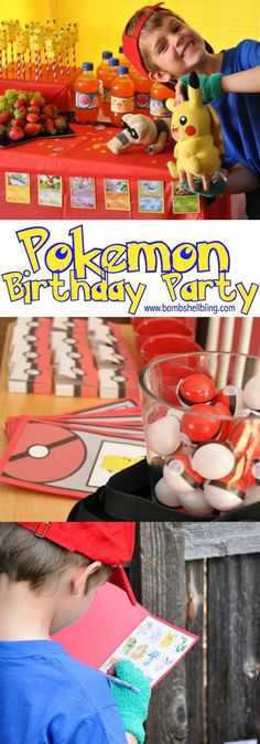 This Pokemon birthday party is the CUTEST! Fun ideas for Pokemon themed games, decorations, food, and party favors! A little Pokemon lover's dream party! Birthday Activities, Birthday Party Games, 6th Birthday Parties, Party Activities, Birthday Fun, Birthday Ideas, Dragon Birthday, Pokemon Themed Party, Pokemon Birthday
