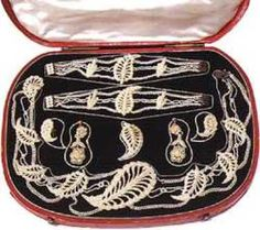 Mary Lucile Stevens Seed Pearl Parure