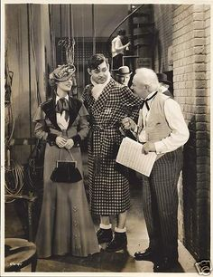 Jeanette MacDonald, Clark Gable and Al Shean (the Marx Bros' uncle) in San Francisco (1936).
