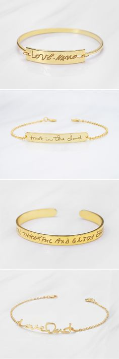 17 Trendy Gifts For Mom Jewelry Personalized Bracelets Engraved Bracelets For Her, Personalized Bracelets, Bangle Bracelets, Diy Jewelry For Mom, Cute Jewelry, Jewelry Crafts, Jewelry Box, Jewellery, Sister Gifts