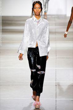 Ashish (Spring-Summer 2015) R-T-W Collection at London Fashion Week  #AdesuwaAighewi #Ashish #BettyAdewole #CheyenneCarty #KaylaClarke #KiaraRidgell #LeomieAnderson #London #MaddieSeisay #NadineMendes #NadjaGiramata #SiennaKing #SigailCurrie #WinnieHarlow See full set - http://celebsvenue.com/ashish-spring-summer-2015-r-t-w-collection-at-london-fashion-week/