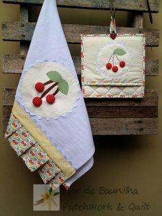 Flor de Baunilha Patchwork & Quilt: Panos de Prato para uma Sweet Kitchen