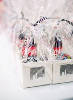 Personalize the coke bottle and candy as a wedding favor