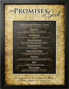 Plaque - The Promises Of God
