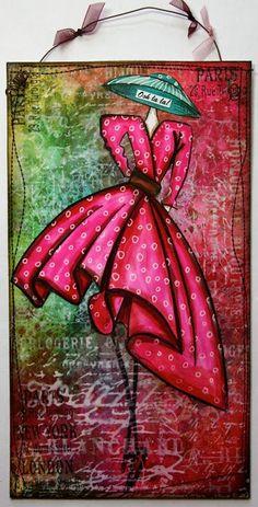 dyan reaveley art | Dylusions - Dyan Reaveley / Art by The Kathryn Wheel Great for an art journal :)