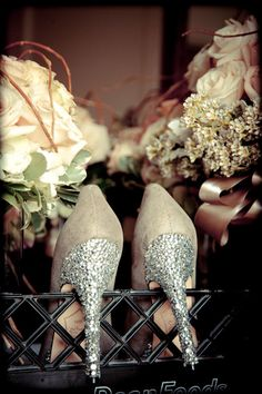 Rhinestones #weddings #shoes #brides @Rebecca Cummins I will need these for my reception haha