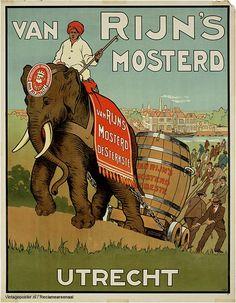 Reclame posters | 1900 - 1910 | Van Rijn's mosterd, Utrecht | Vintageposter.nl | Vintage Posters | Historische Posters | Historical Posters