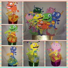 henry hugglemonster inspired party by titaspartycreations on Etsy, $28.00