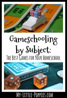 Gameschooling by subject is a series with lists of the best games for your family by academic subject, including a gameschool family's top picks!