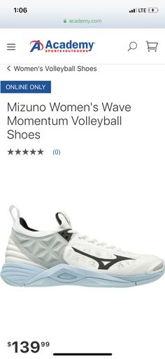 mizuno womens volleyball shoes size 8 x 1 nm on