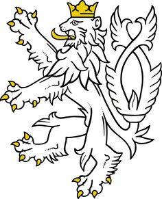 File:Lion from small coat of arms of the Czech Republic.svg