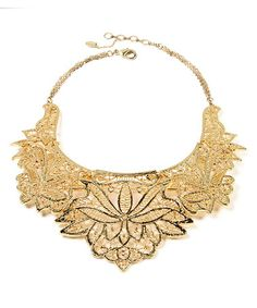 Another great find on #zulily! Goldtone Athena Bib Necklace #zulilyfinds