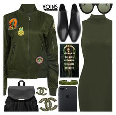 """Yoins"" by pastelneon ❤ liked on Polyvore featuring Le Specs, Chanel, Boohoo, Nicki Minaj, yoins, yoinscollection and loveyoins"