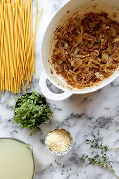 One Pot French Onion Pasta by joy the baker, via Flickr, might bulk up with some added veggies like mushrooms