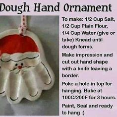 Santa handprint