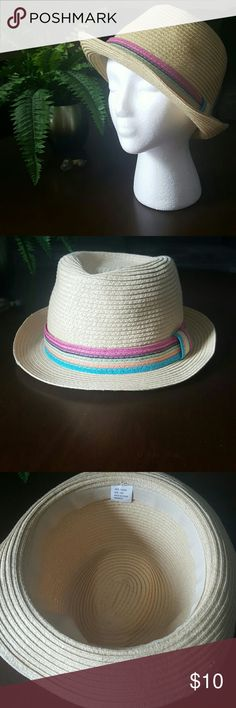 Straw Fedora Hat Cute addition to any outfit, or great for a day in the sun!!. 100% paper Accessories Hats