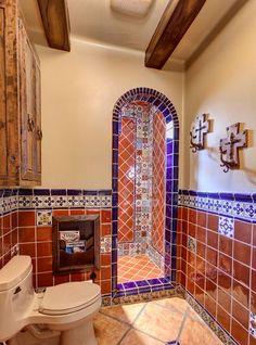 Adorable Spanish Bathroom Design Ideas and 7 Best Spanish Bathroom Images On Home Decoration Bathroom Bathroom Spanish Style Bathrooms, Spanish Bathroom, Mediterranean Bathroom, Spanish Style Homes, Spanish House, Mexican Style Homes, Spanish Revival, Mediterranean Houses, Spanish Colonial