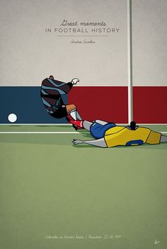 great moments in football history series illustration Andres Escobar own goal usa colombia