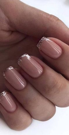 Colorful and Beautiful Nail Art Designs and Nail Color Ideas and Inspiration. Simple and Easy DIY Nail Art. Designs for nails. Shiny Nails, Chrome Nails, My Nails, Nails Inc, Shellac Nails, Nail Design Glitter, Glitter Nail Art, Nails Design, Salon Design
