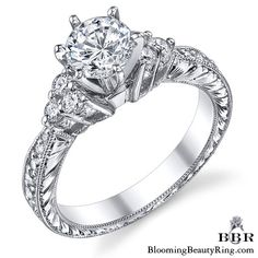 .45 ctw. 14K Gold Diamond Engagement Ring – nrd541-1 | Unique Engagement Rings for Women by Blooming Beauty Jewelry