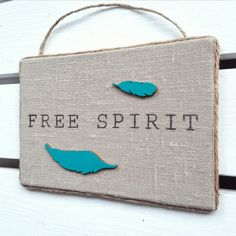 Free spirit sign Bohemian chic decor Boho wall by HavenOfHarmony Bohemian Chic Decor, Bohemian Soul, Wood Feather, Spirit Signs, Burlap Signs, Free Spirit, My Etsy Shop, Trending Outfits, Unique Jewelry