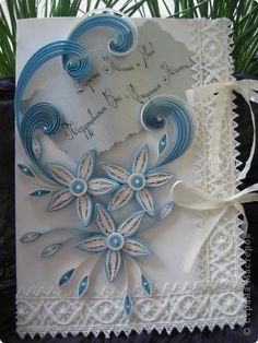 Открытка День рождения Квиллинг открытка Бумажные полосы фото 10