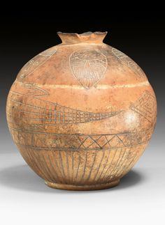 Africa | Terracotta vessel from Mali | ca. mid 19th century