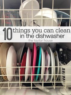 10 things you can clean in the dishwasher!