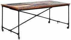 Details zu Vintage Esstisch 4 Schubladen Holztisch Dinnertisch ...