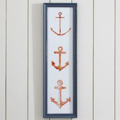 Pull Your Weight Framed Print   This trio of anchor illustrations makes a graphic addition to any room with a nautical influence.